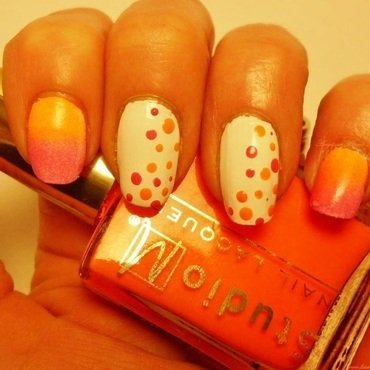 Ombre Sunset nail art by Angelique Adams