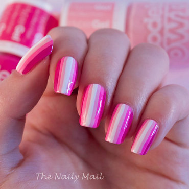 Ombre Stripes nail art by The Naily Mail