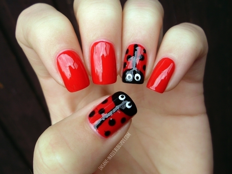 Ladybug nails nail art by Sanela - Ladybug Nails Nail Art By Sanela - Nailpolis: Museum Of Nail Art