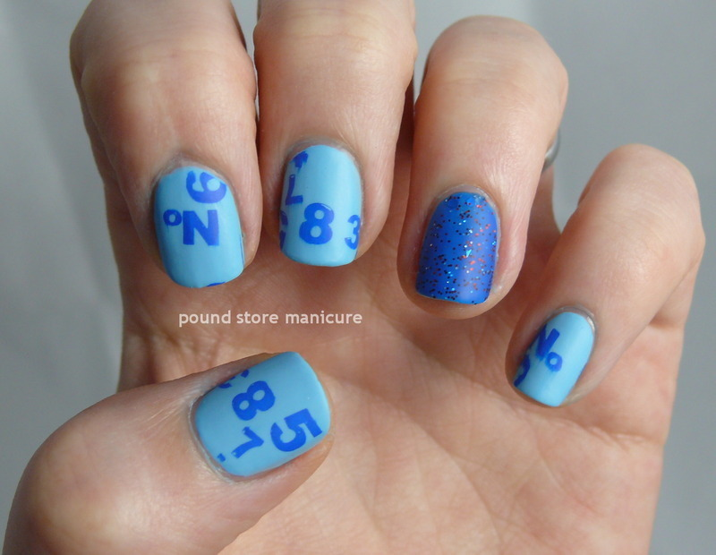 Numbers nail art by Pound Store Manicure