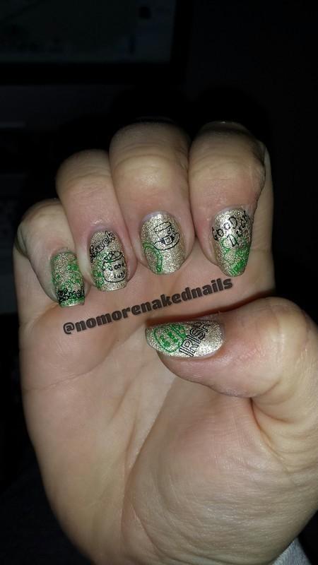 St pattys day art. nail art by nomorenakednails