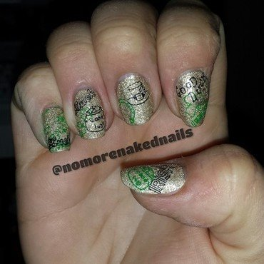 St pattys day art. nail art by nomorenakednails