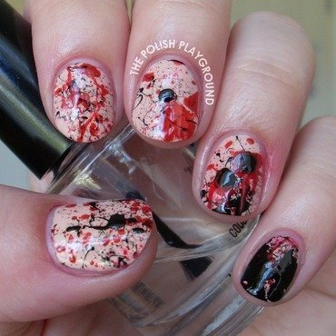 The vampire diaires inspired splatter nail art thumb370f