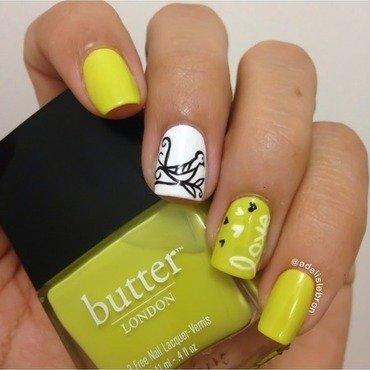 Birdie love nail art by Adelis Lebron