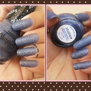 Nicole by OPI Blue-Berry Sweet on You Swatch by Uma mathur