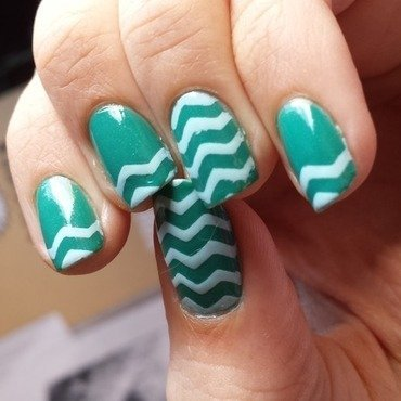 Mini Mint Chevys nail art by Jillian Harrison
