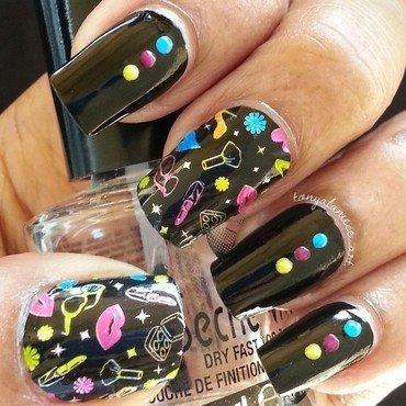 Neon Dotticure nail art by Tonya