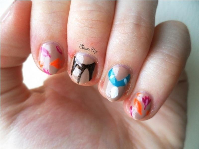 Disney's Pocahontas nail art by Jacquie