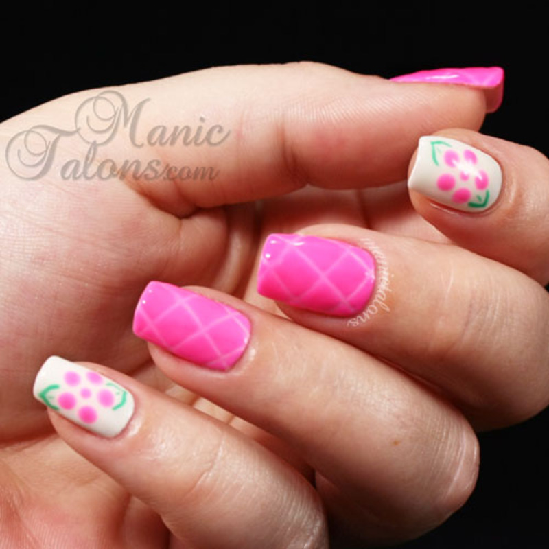 Quilted Nails with Gel Polish nail art by ManicTalons