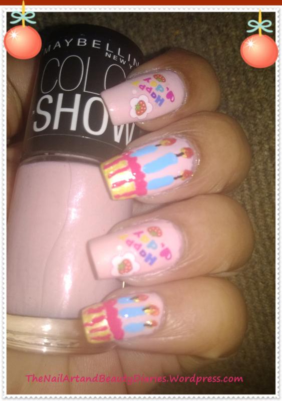 BirthDay Nails for My Hubby nail art by Setu Rohini