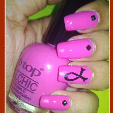 Breast cancer awareness nail art thumb370f