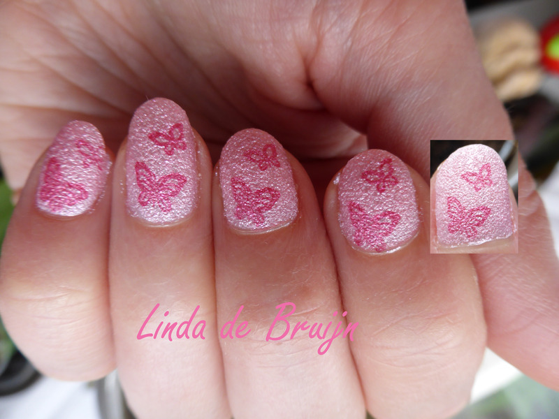Butterfly nail art by Linda de Bruijn