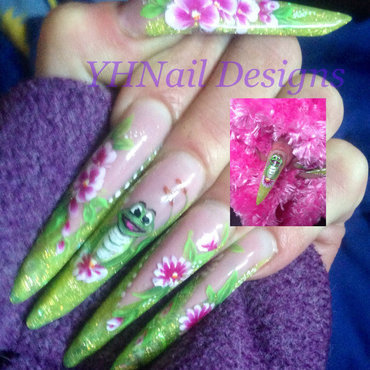 Spring frog nail art by yvonne holloway