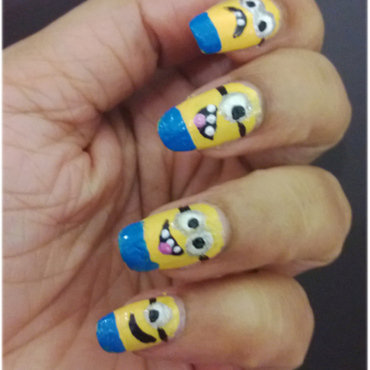 Despicable me movie inspired nail art thumb370f