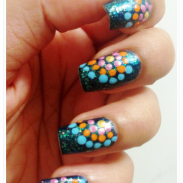 Dots in the night sky nail art thumb370f
