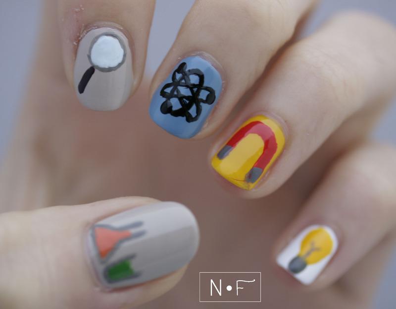 Science nail art by NerdyFleurty