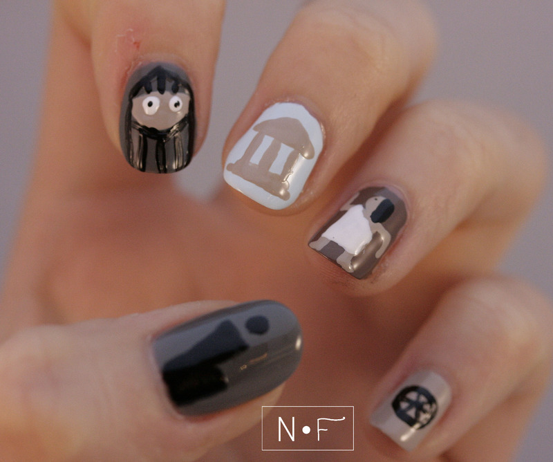 History nail art by NerdyFleurty - Nailpolis: Museum of Nail Art