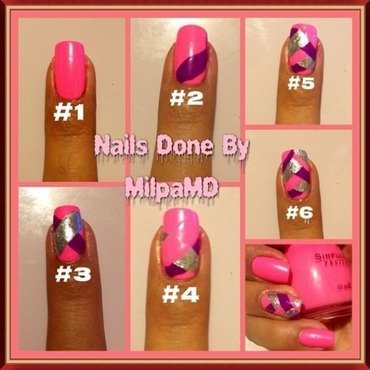 Tutorials your Pink  nail art by Milpa  InternNails