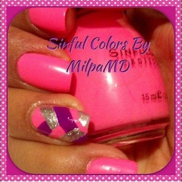 Cross Me Pink nail art by Milpa  InternNails
