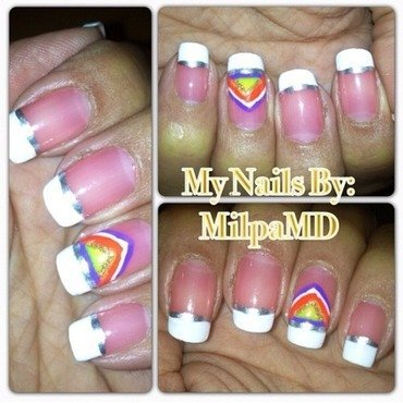 French Me Colors  nail art by Milpa  InternNails