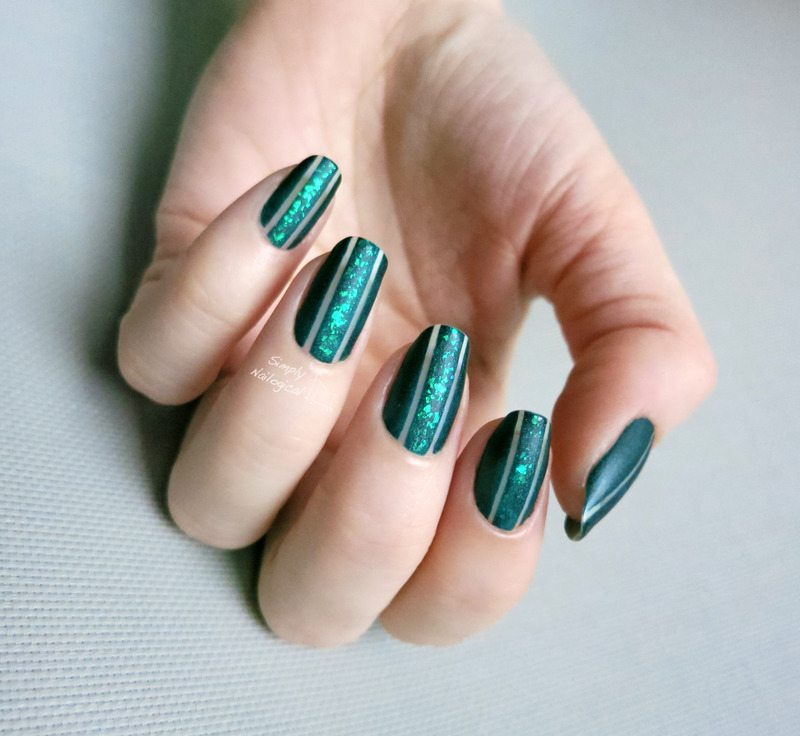 Negative space Emerald runway nail art by simplynailogical