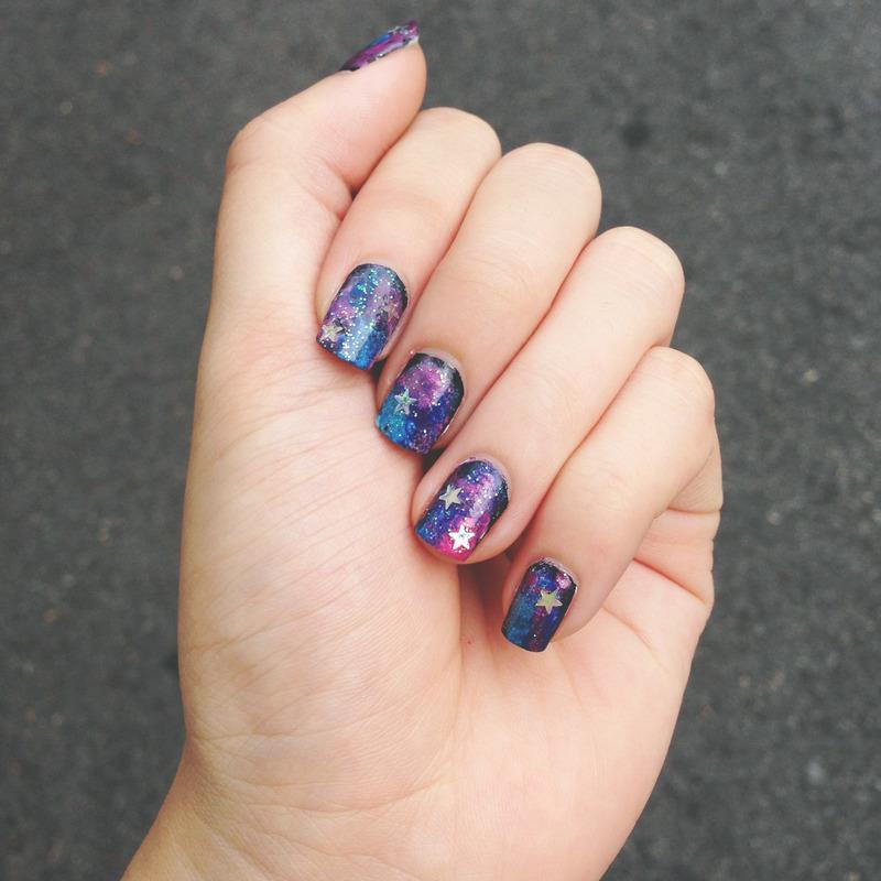 Cosmic Galaxy nail art by Huiying Chee - Nailpolis: Museum ...
