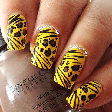 Mixed Animal Prints nail art by Amber Connor