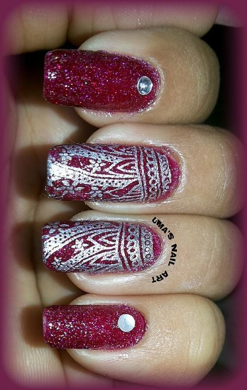 Party Nails nail art by Uma mathur