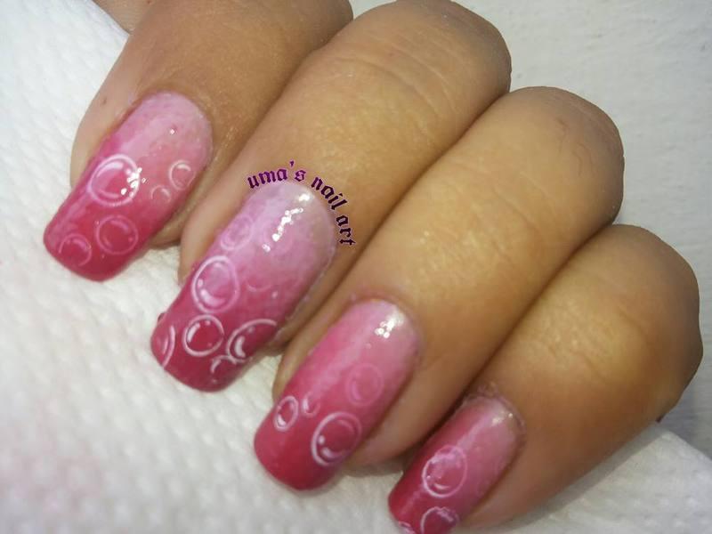 Bubble Double... nail art by Uma mathur