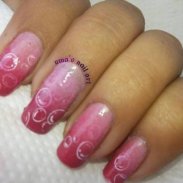 Bubble Double... nail art by Uma mathur