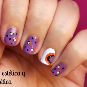 Dots in purple nail art by MartaRuso