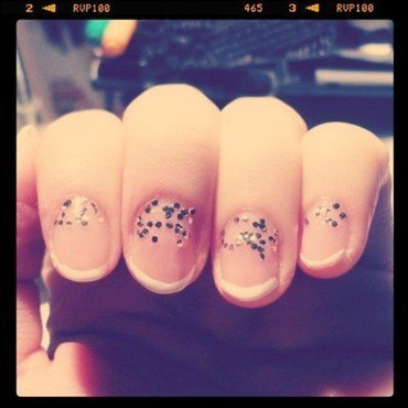 Raining Glitter nail art by Jessica-Anne
