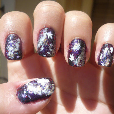 To Infinity And Beyond Galaxy Nails nail art by Jessica-Anne