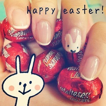 Easter Bunny Fun nail art by Jessica-Anne