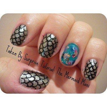 The Mermaid Mani nail art by Jessica-Anne