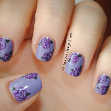 Mother's day - If I cannot give her real flowers nail art by Ditta