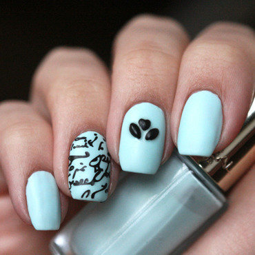 Love letter nail art by Maria
