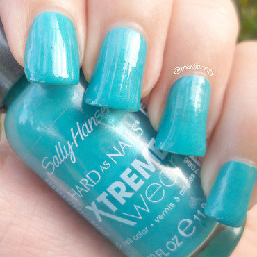 Sally Hansen Xtreme Wear Jazzy Jade Swatch by madjennsy Nail Art
