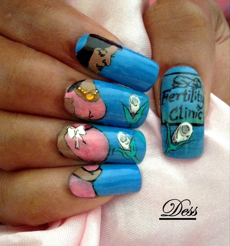 Motherhood can become a reality  nail art by Dess_sure