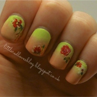Mothers Day Flowers nail art by Kimberley