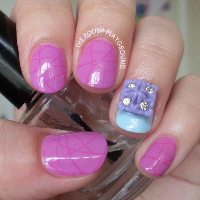 Subtle Crisss Cross Stamping nail art by Lisa N