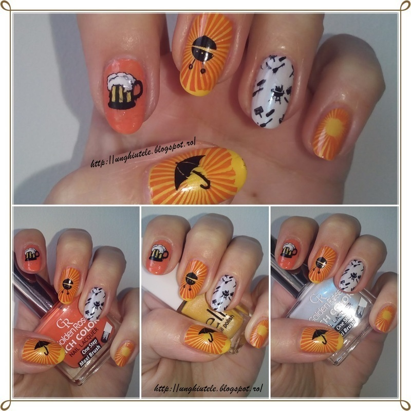 Barbeque Nails nail art by Oana  Alexandru