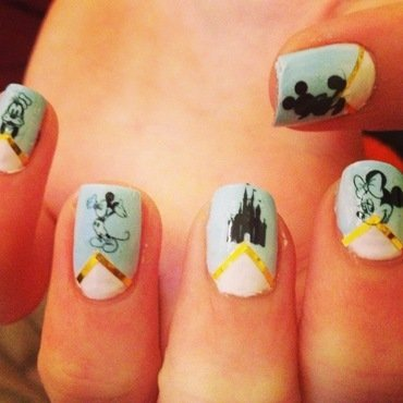 Disney Nail Decals From Sassy-Nailz nail art by Kimberley