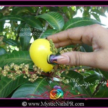 Acrylic Candy Swirl Nails by Jennifer Perez nail art by Jennifer Perez ♥ Mystic Nails