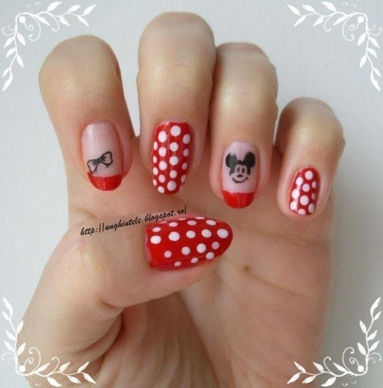 Mickey&Minnie nail art by Oana  Alexandru