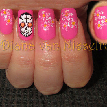 Pink skulls and flowers thumb370f
