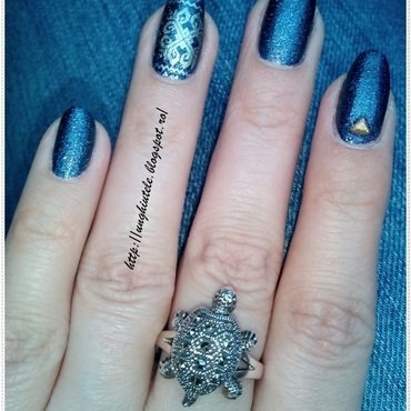 Jeans nails nail art by Oana  Alexandru