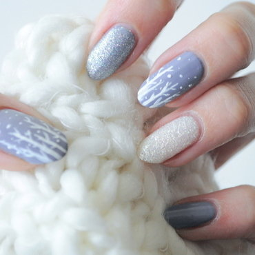 winter in the city nail art by Tiffany Blue
