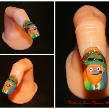 Lucky Leprechaun nail art by Beth Marie