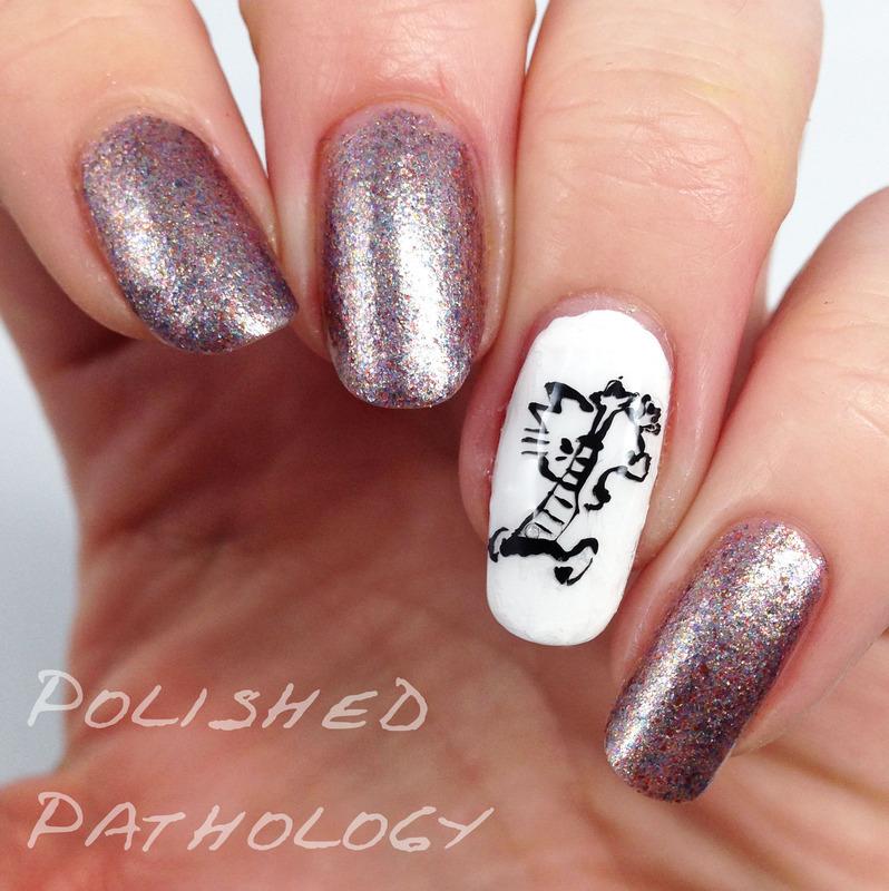 Calvin and Hobbes Bath Time nail art by J Pathology - Nailpolis ...